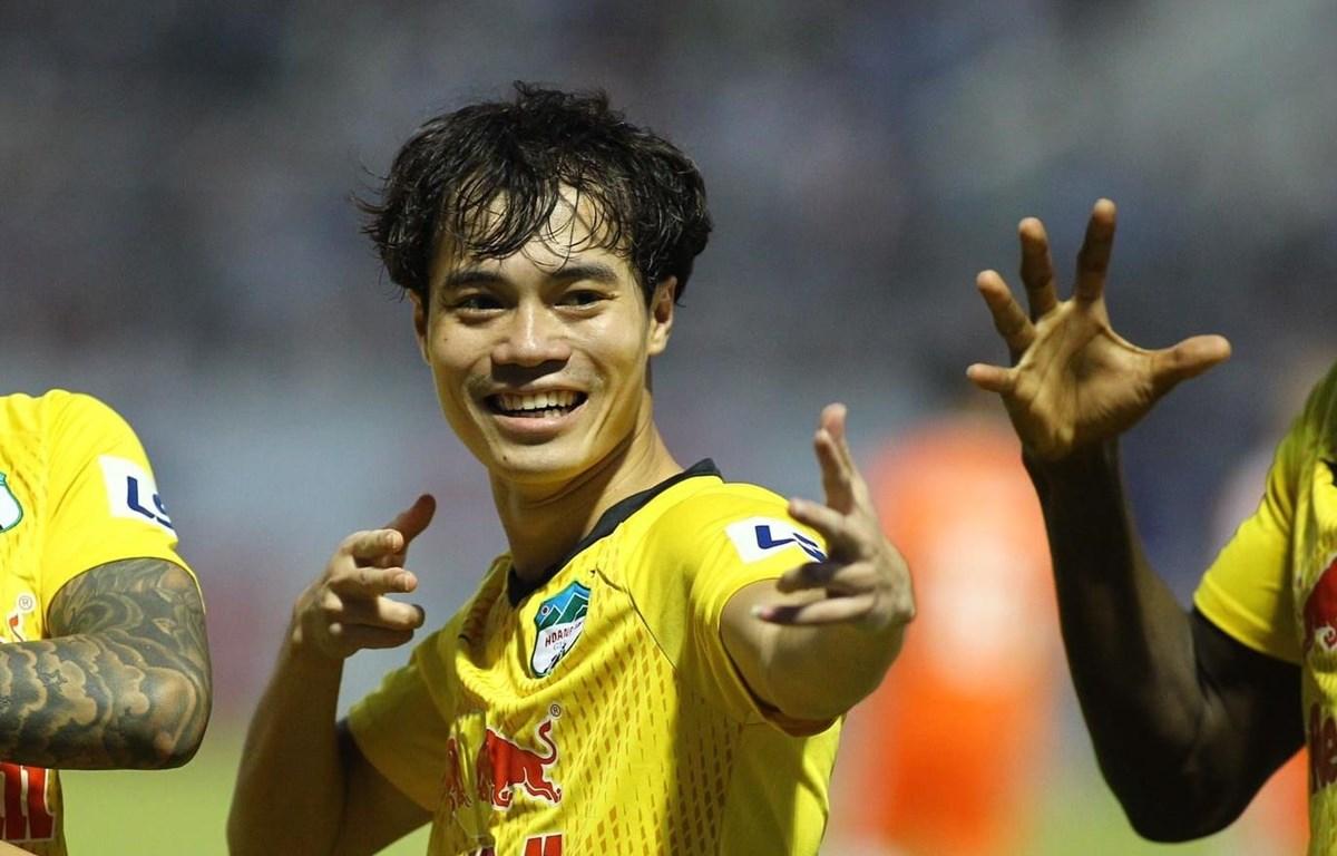 Văn Toàn và Công Phượng ghi bàn trong chiến thắng 2-0 của Hoàng Anh Gia Lai trước SHB Đà Nẵng. (Ảnh: CLB HAGL)