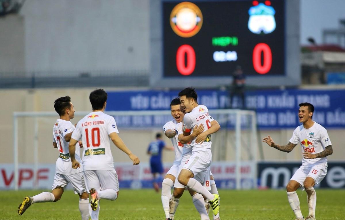 Hoàng Anh Gia Lai đã bất bại 10 trận liên tiếp tại V-League 2021. (Ảnh: PV/Vietnam+)