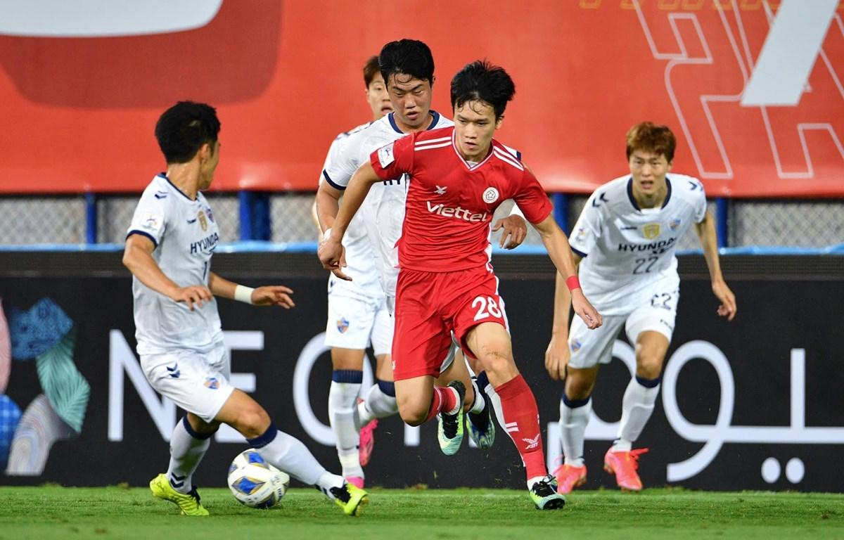 Viettel nhận thất bại thứ ba liên tiếp tại AFC Champions League 2021 lần lượt trước BG Pathum United và Ulsan Hyundai. (Ảnh: AFC)