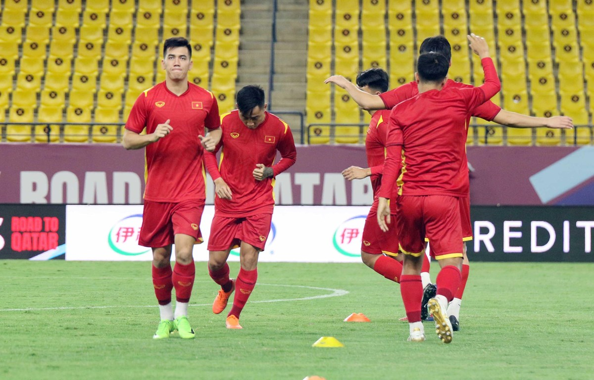 Đội tuyển Việt Nam đứng thứ 5 ở bảng B tại vòng loại thứ ba World Cup 2022 khu vực châu Á sau loạt trận đầu tiên. (Ảnh: VFF)