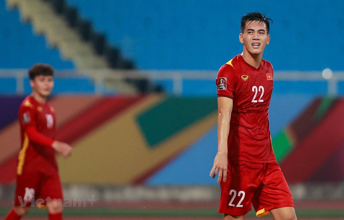 Thay vì những thất bại với tỷ sống đậm theo kiểu 'vùi dập,' tuyển Việt Nam kết thúc trận đấu trong thế 'ngẩng cao đầu.' (Ảnh: Hiển Nguyễn/Vietnam+)