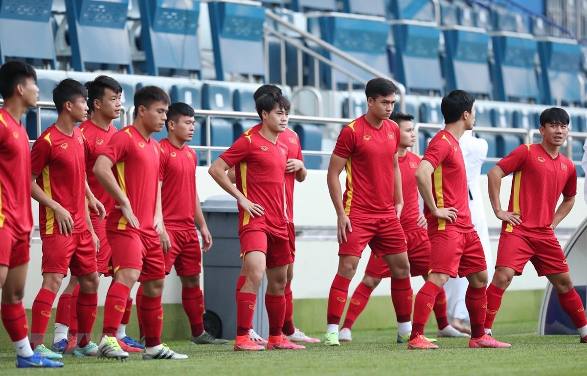Đội tuyển Việt Nam đang đứng đầu bảng G vòng loại thứ hai World Cup 2022 với 17 điểm. (Ảnh: TTXVN)