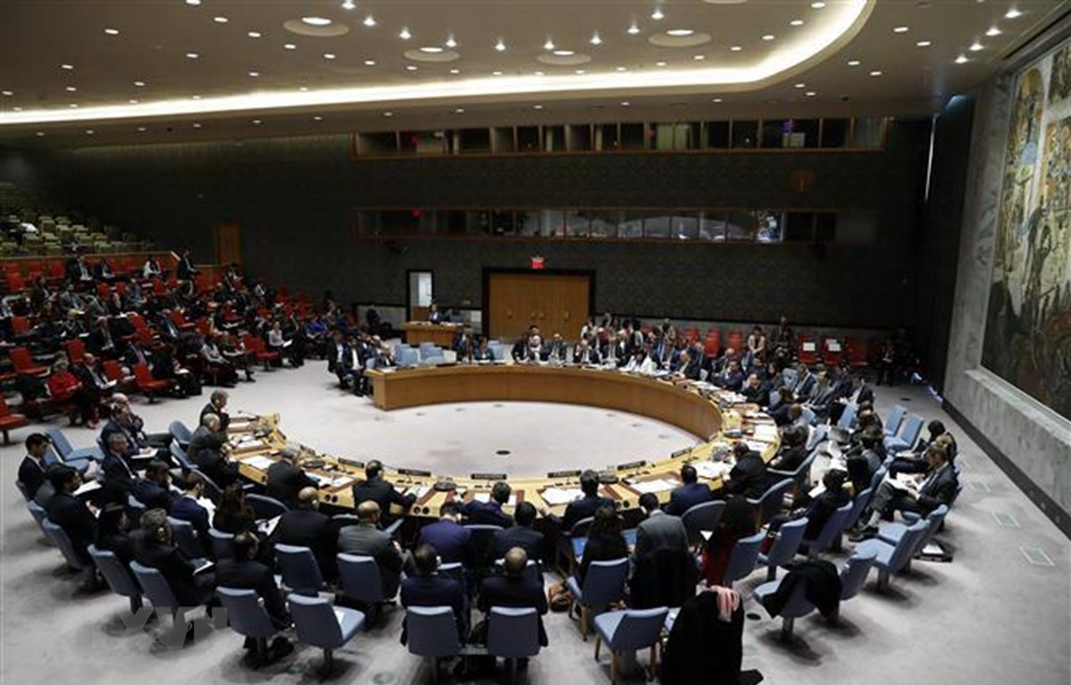 Toàn cảnh một cuộc họp Hội đồng Bảo an Liên hợp quốc ở New York, Mỹ. (Ảnh: THX/TTXVN)