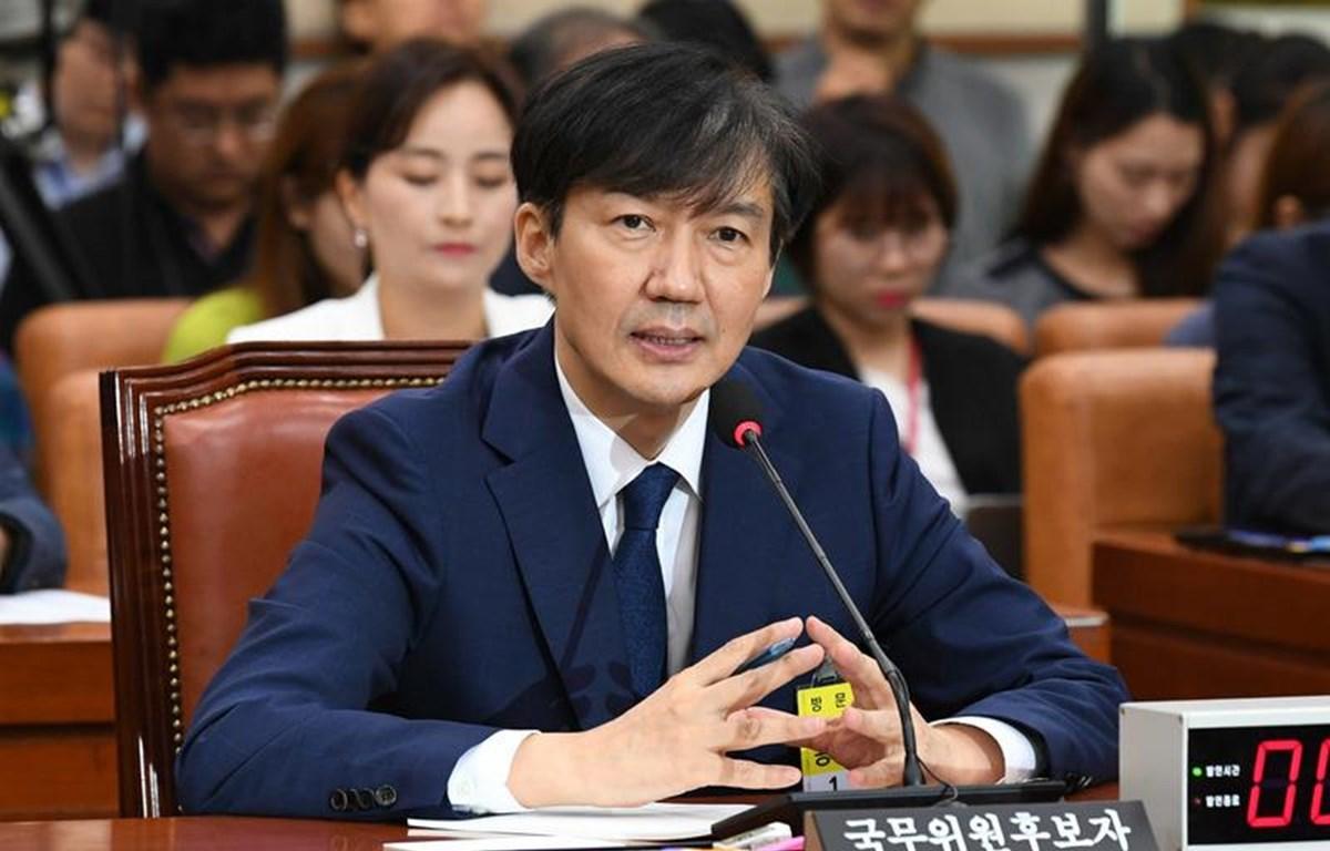 Bộ trưởng tư pháp Hàn Quốc Cho Kuk. (Nguồn: hani.co.kr)