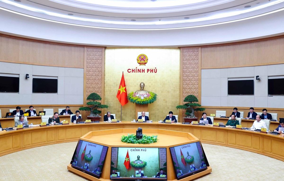 Quang cảnh phiên họp chính phủ thường kỳ tháng 12/2020. (Ảnh: Thống Nhất/TTXVN)