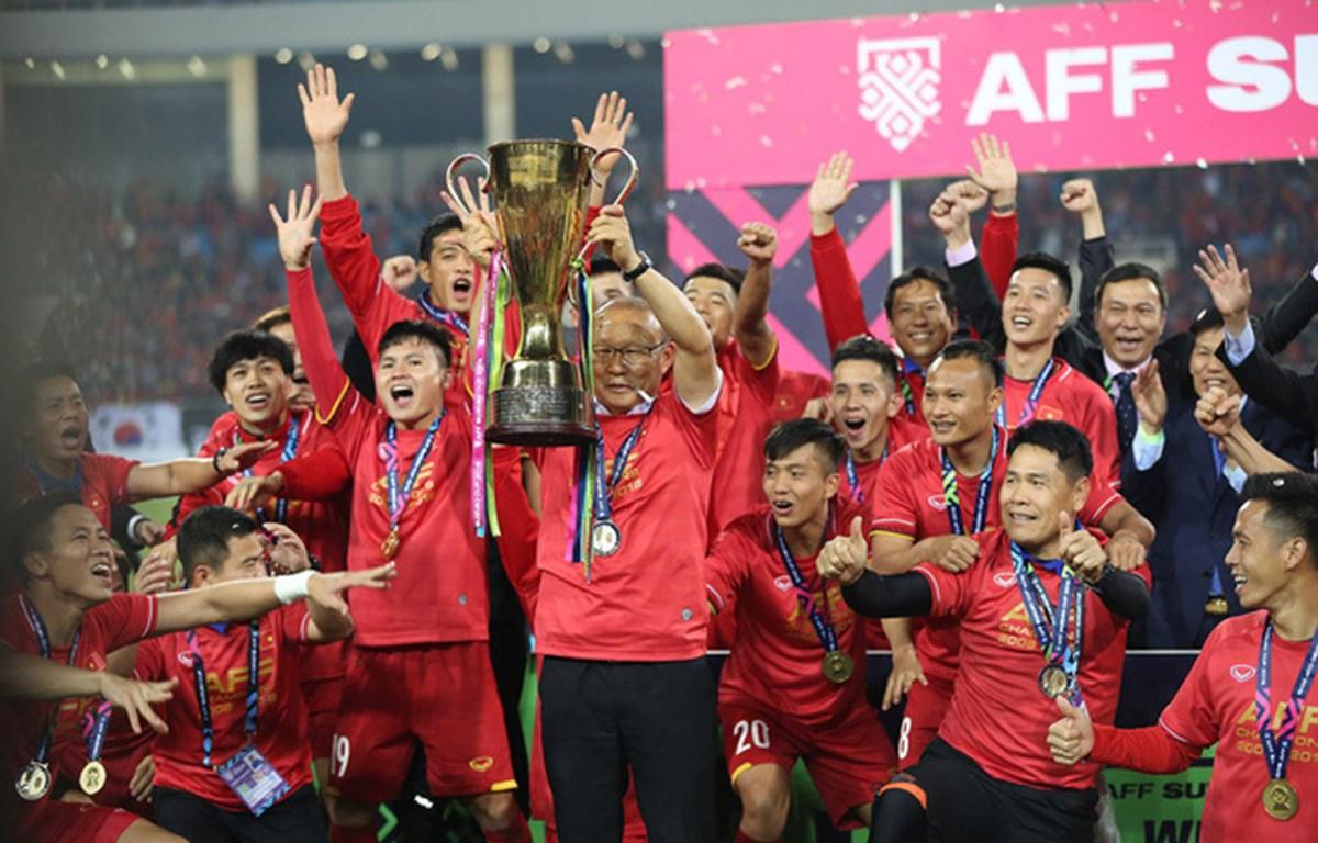 Đương kim vô địch Việt Nam nằm ở nhóm hạt giống số 1 tại AFF Cup 2020. (Ảnh: TTXVN)