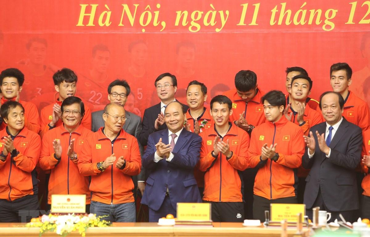 HLV Park Hang Seo sẽ vinh dự nhận Huân chương Lao động hạng Nhì từ Thủ tướng Chính phủ. (Ảnh: TTXVN)