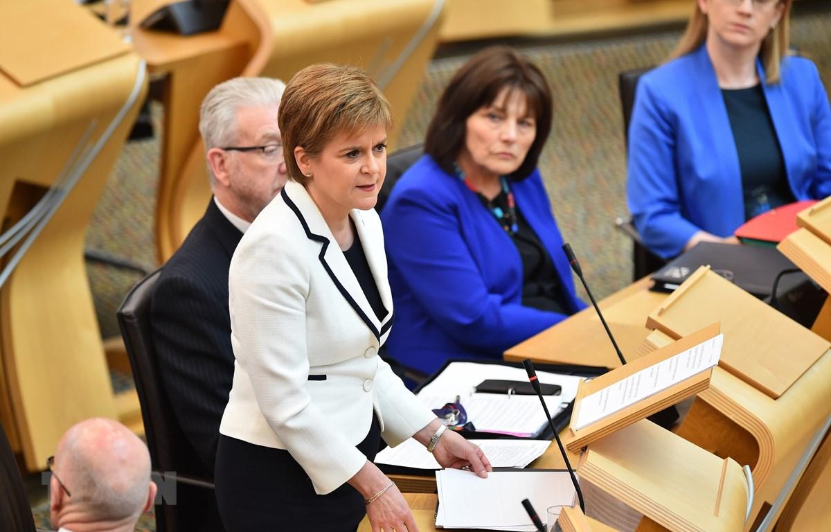 Thủ hiến Scotland Nicola Sturgeon. (Ảnh: AFP/TTXVN)