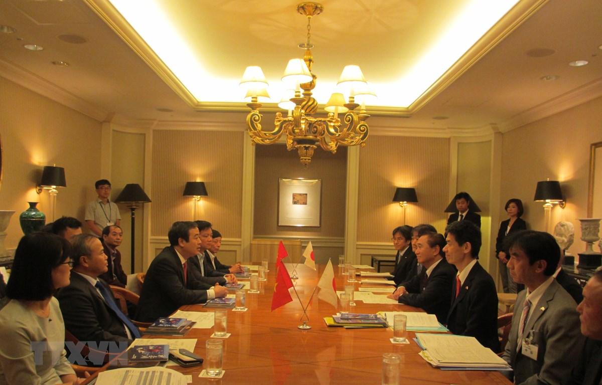 Ông Ngô Đông Hải, Ủy viên dự khuyết Trung ương Đảng, Phó Bí thư Thường trực tỉnh Thái Bình, dự buổi tiếp xúc với tỉnh Kanagawa (Nguồn: TTXVN)