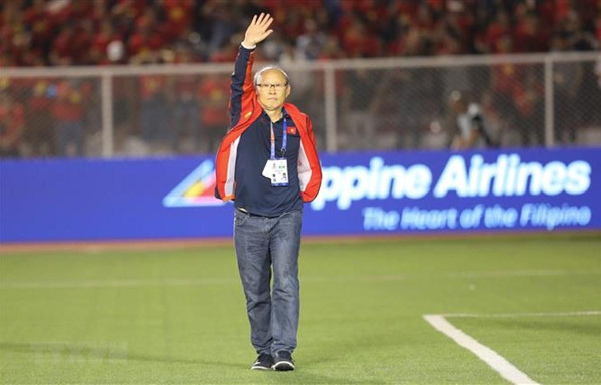 Huấn luyện viên Park Hang-seo muốn các cầu thủ Việt Nam giữ được những thành tích đỉnh cao trong tương lai. (Ảnh: TTXVN)