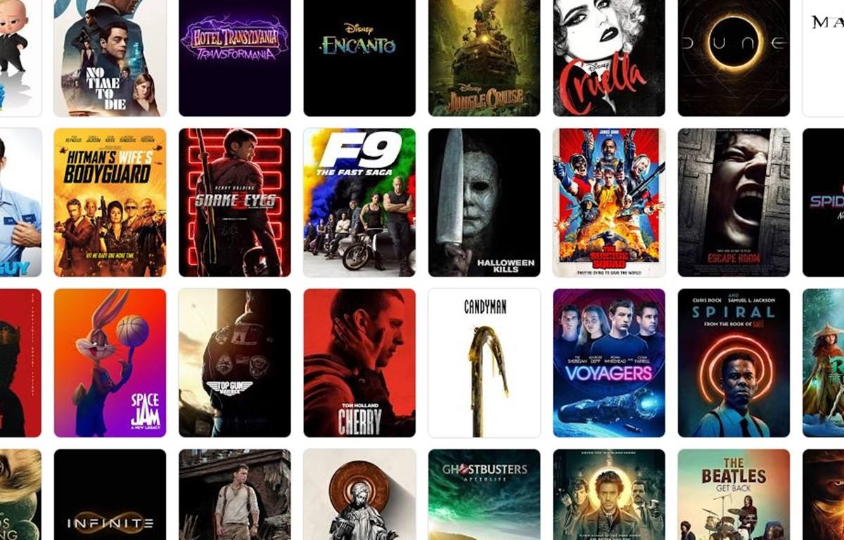 Loạt phim Hollywood ra mắt trong năm 2021, nhiều phim đã trải qua một số lần lùi lịch. (Ảnh minh họa)
