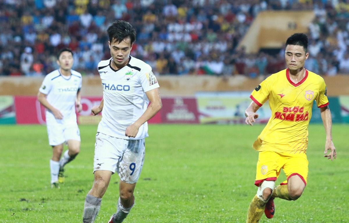 Hoàng Anh Gia Lai gặp Nam Định trên sân nhà ở trận đầu tiên của vòng loại cúp Quốc gia 2020. (Ảnh: Nguyên An/Vietnam+)