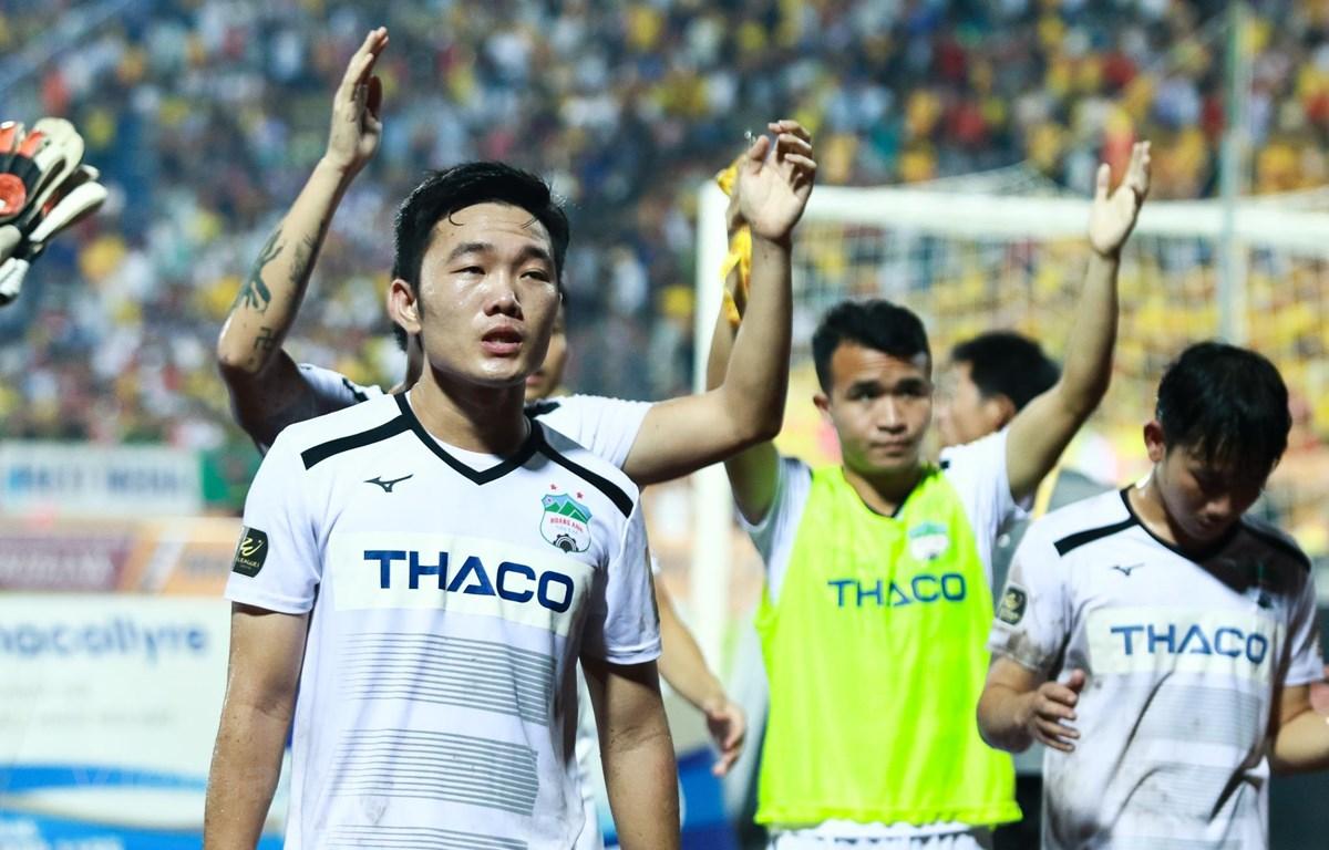 Hoàng Anh Gia Lai không thắng Hà Nội FC từ năm 2017 tới nay. (Ảnh: Nguyên An/Vietnam+)