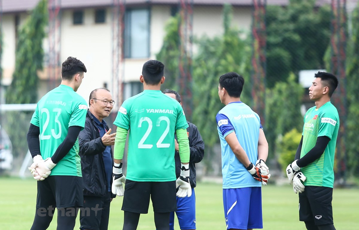 HLV Park Hang-seo có rất nhiều lựa chọn cho vị trí thủ môn tuyển Việt Nam. (Ảnh: Nguyên An/Vietnam+)