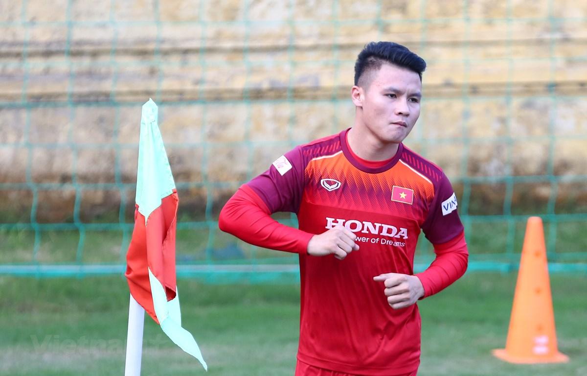 Quang Hải cho biết huấn luyện viên Park Hang-seo đã có phương án thay thế Đoàn Văn Hậu ở vòng chung kết U23 châu Á 2020. (Ảnh: Nguyên An/Vietnam+)