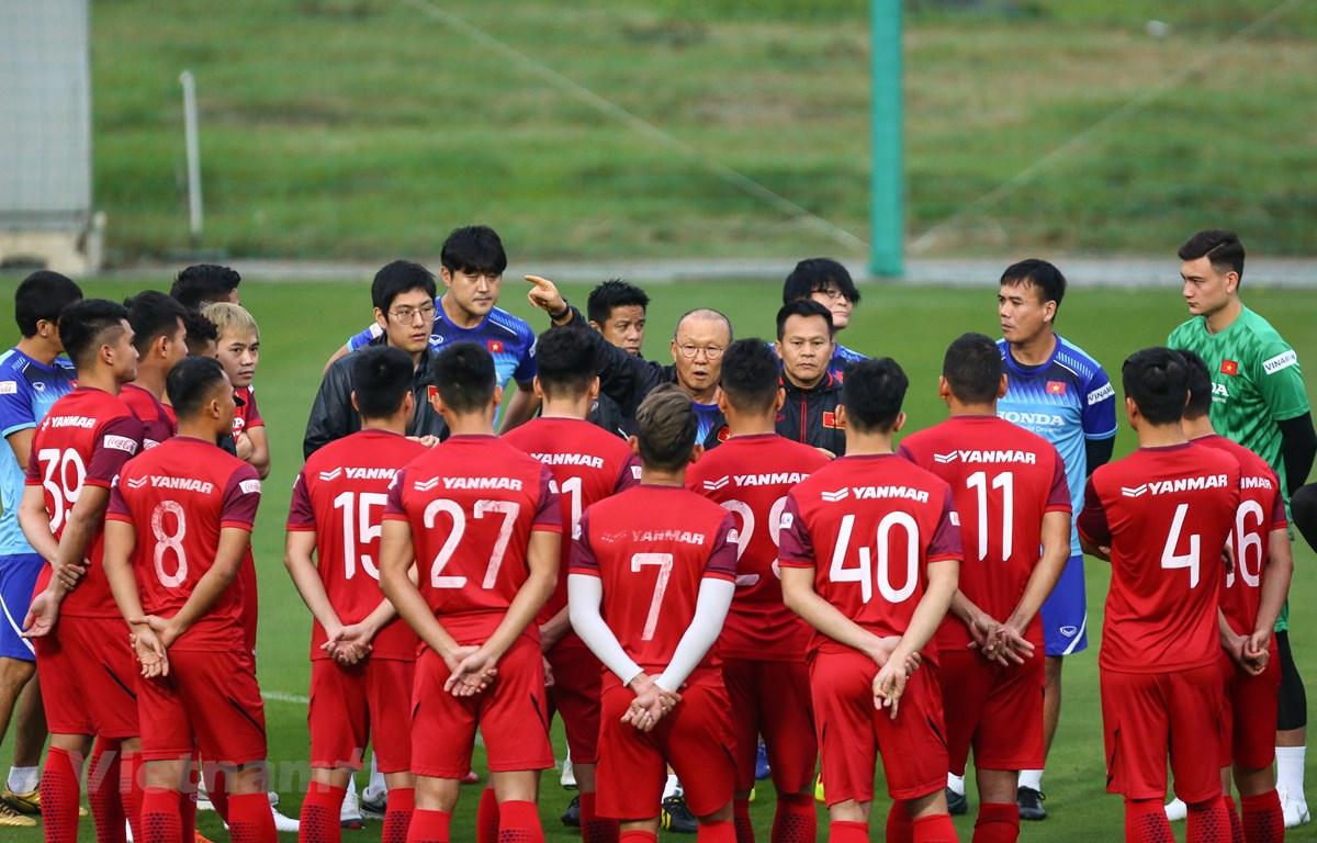 Huấn luyện viên Park Hang-seo gọi 28 cầu thủ lên tuyển U22 Việt Nam cho đợt tập trung vào đầu tháng Bảy tới. (Ảnh: Nguyên An/Vietnam+)
