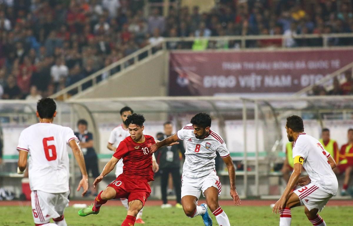 Tuyển Việt Nam sẽ đối đầu UAE vào ngày 15/6. (Ảnh: Hiển Nguyễn/Vietnam+)