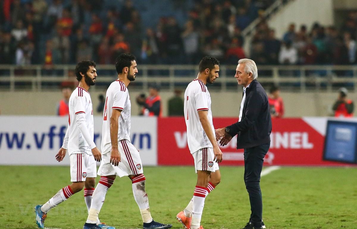 Đội tuyển UAE loay hoay tìm huấn luyện viên trưởng cho mục tiêu vượt qua Việt Nam ở vòng loại World Cup 2022. (Ảnh: Nguyên An/Vietnam+)