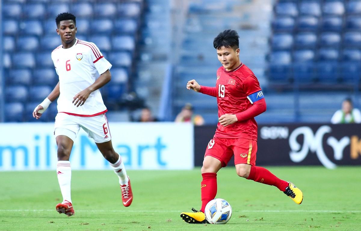 Tiền vệ Quang Hải muốn phát triển hơn nữa trong tương lai nhưng chưa nghĩ tới chuyện xuất ngoại thi đấu. (Ảnh: Nguyên An/Vietnam+)