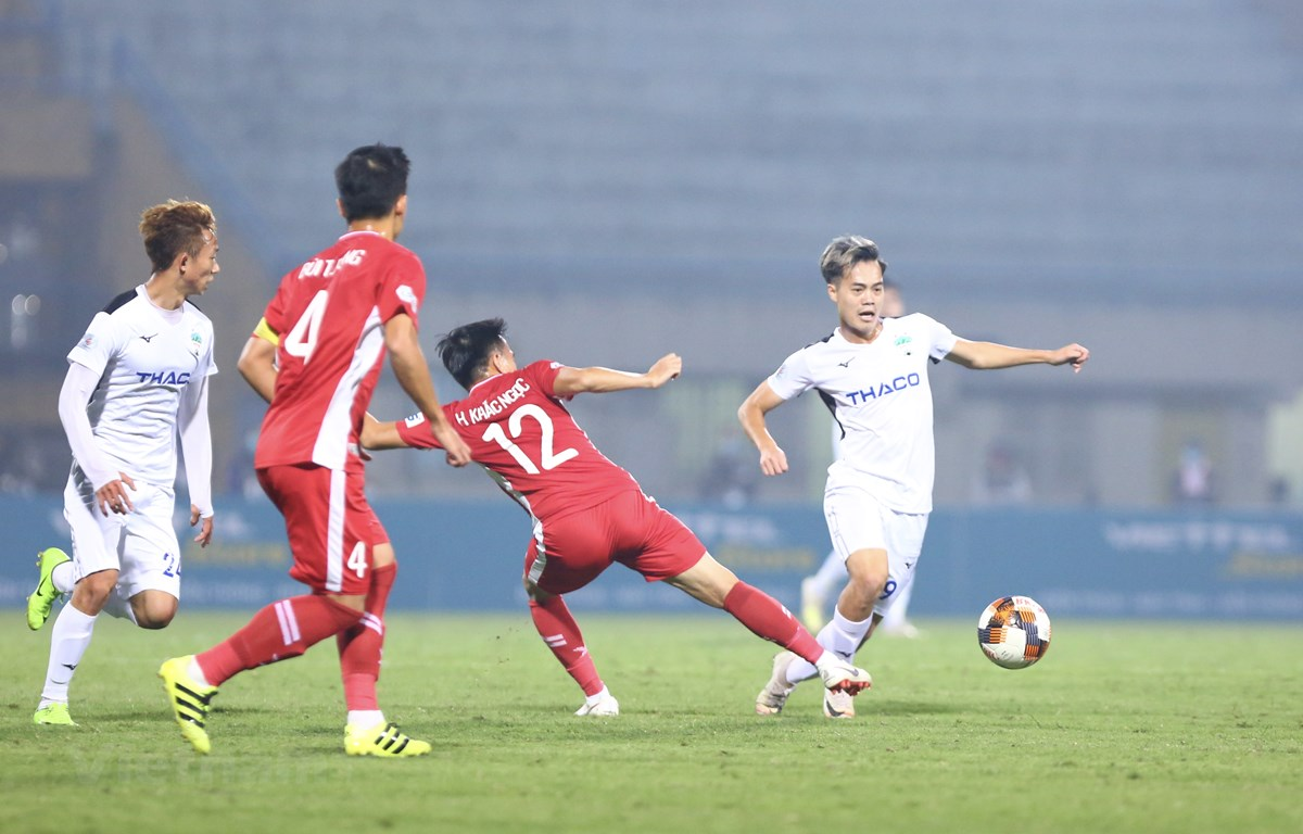 V-League 2020 trở lại sớm sẽ mang lại một số lợi thế cho tuyển Việt Nam ở Vòng loại World Cup 2022 và AFF Cup 2020. (Ảnh: Nguyên An/VIetnam+)