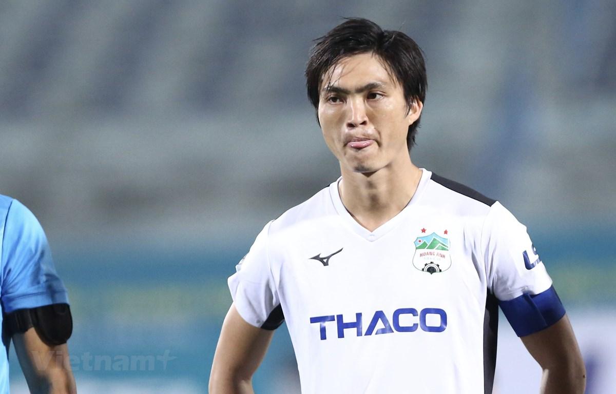 Tuấn Anh khiêm tốn khi nói về bản thân sau màn trình diễn ấn tượng trước Quảng Nam ở vòng 10 V-League 2020. (Ảnh: Nguyên An/Vietnam+)