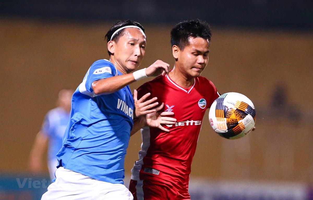 V-League 2020 có thể kéo dài tới cuối năm vì dịch COVID-19 và nhờ có thêm thời gian khi AFF Cup 2020 hoãn tới 2021. (Ảnh: Nguyên An/Vietnam+)
