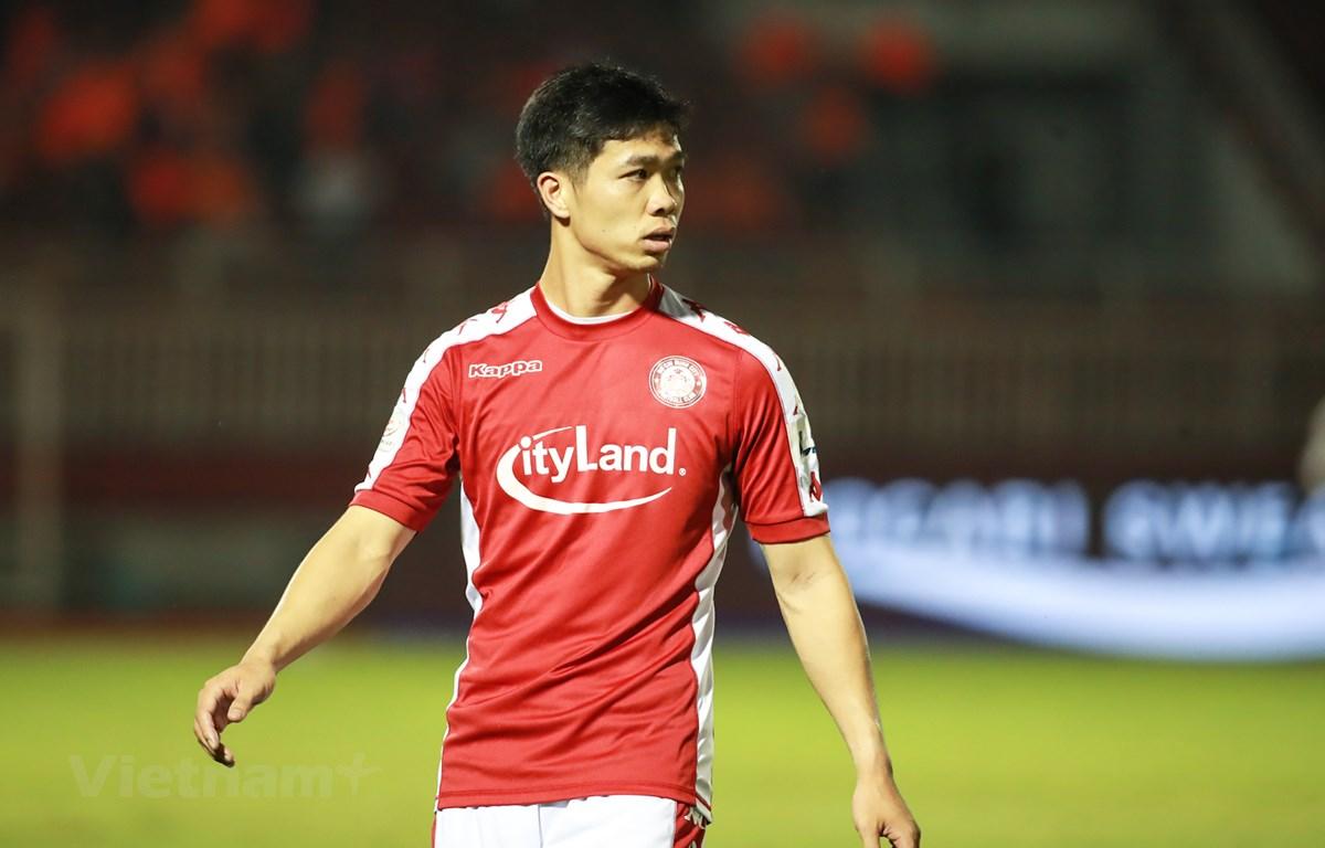 CLB Tp.HCM dẫn đầu V-League 2020 về số thẻ phạt với 22 thẻ vàng và 1 thẻ đỏ. (Ảnh: Hải An/Vietnam+)
