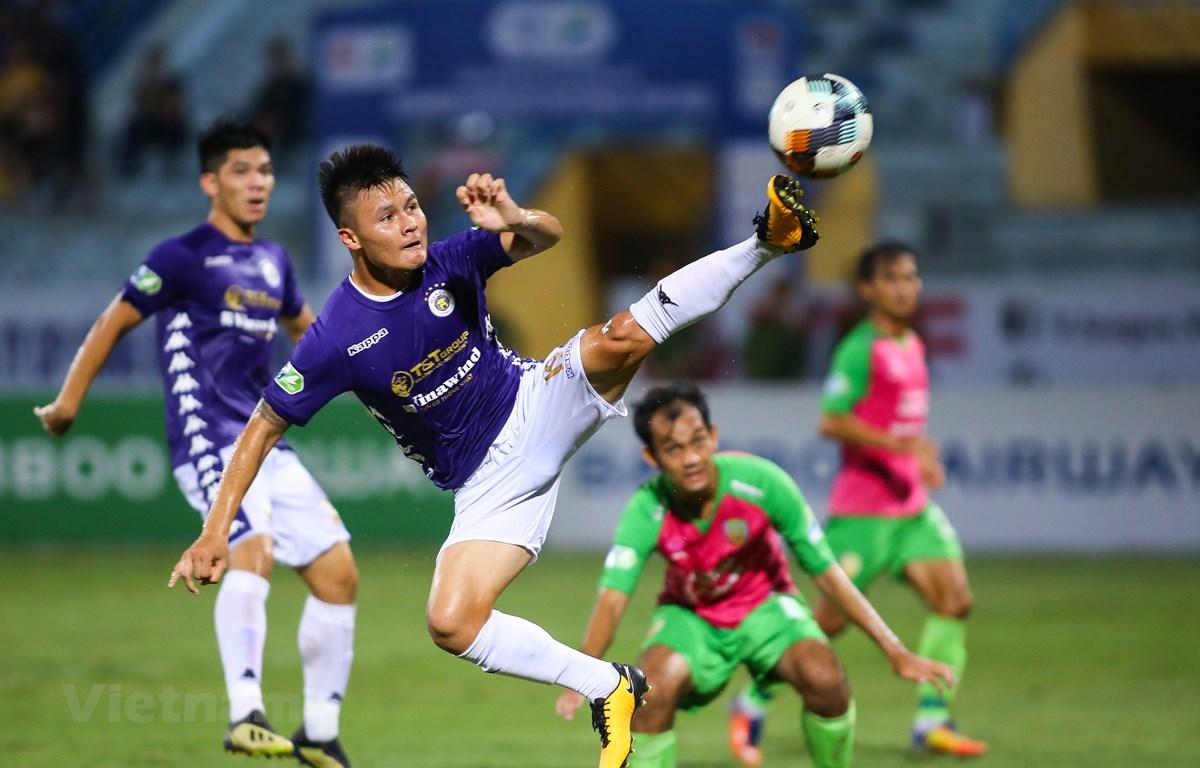 Tiền vệ Quang Hải có chỉ số hàm lượng mỡ trong cơ thể tốt nhất đội tuyển Việt Nam. (Ảnh: Hiển Nguyễn/Vietnam+)