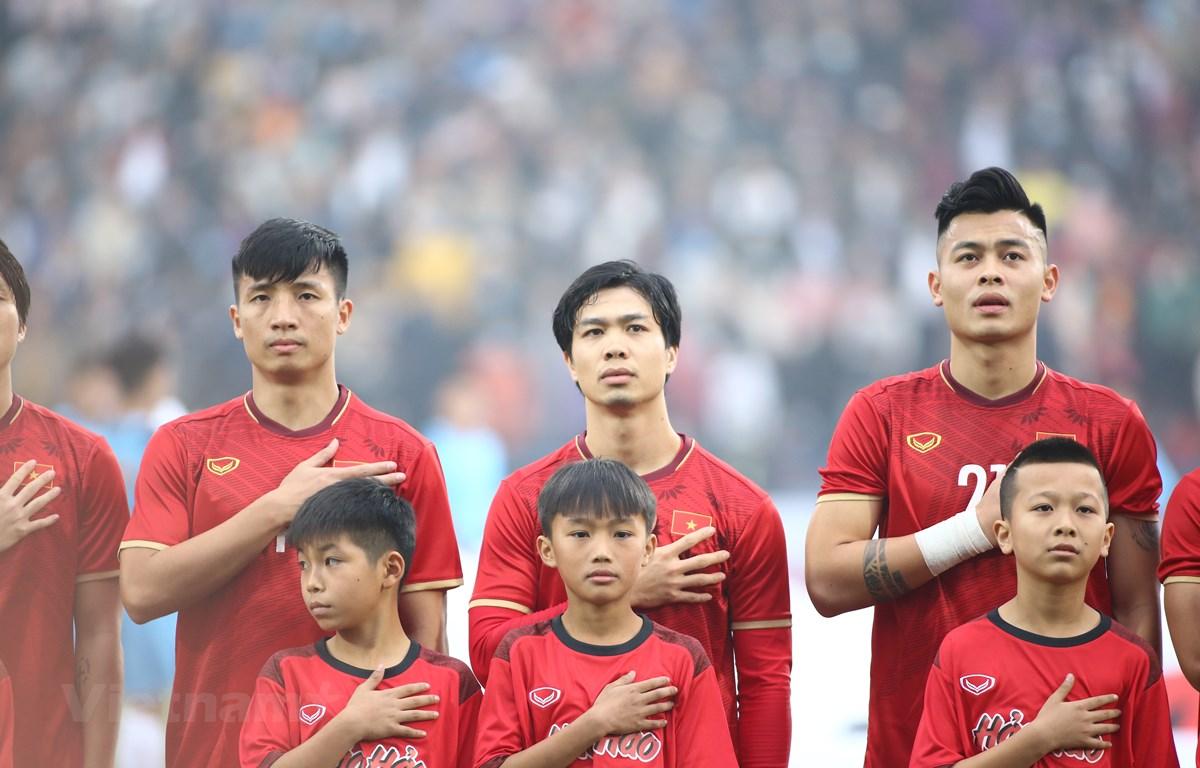 Đội tuyển Việt Nam đang đứng đầu bảng G ở vòng loại hai World Cup 2022 khu vực châu Á và nhiều khả năng giành vé đi tiếp. (Ảnh: Hiển Nguyễn/Vietnam+)