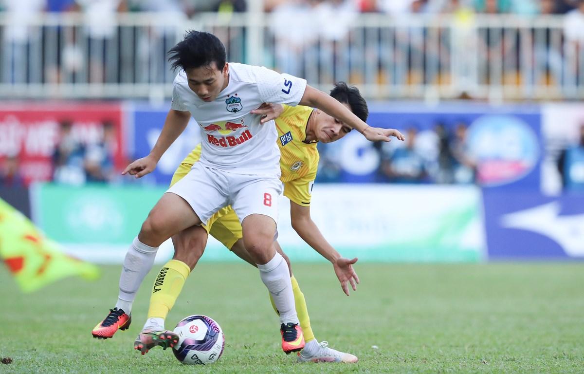 V-League 2021 không có đội vô địch và lên, xuống hạng. (Ảnh: PV/Vietnam+)
