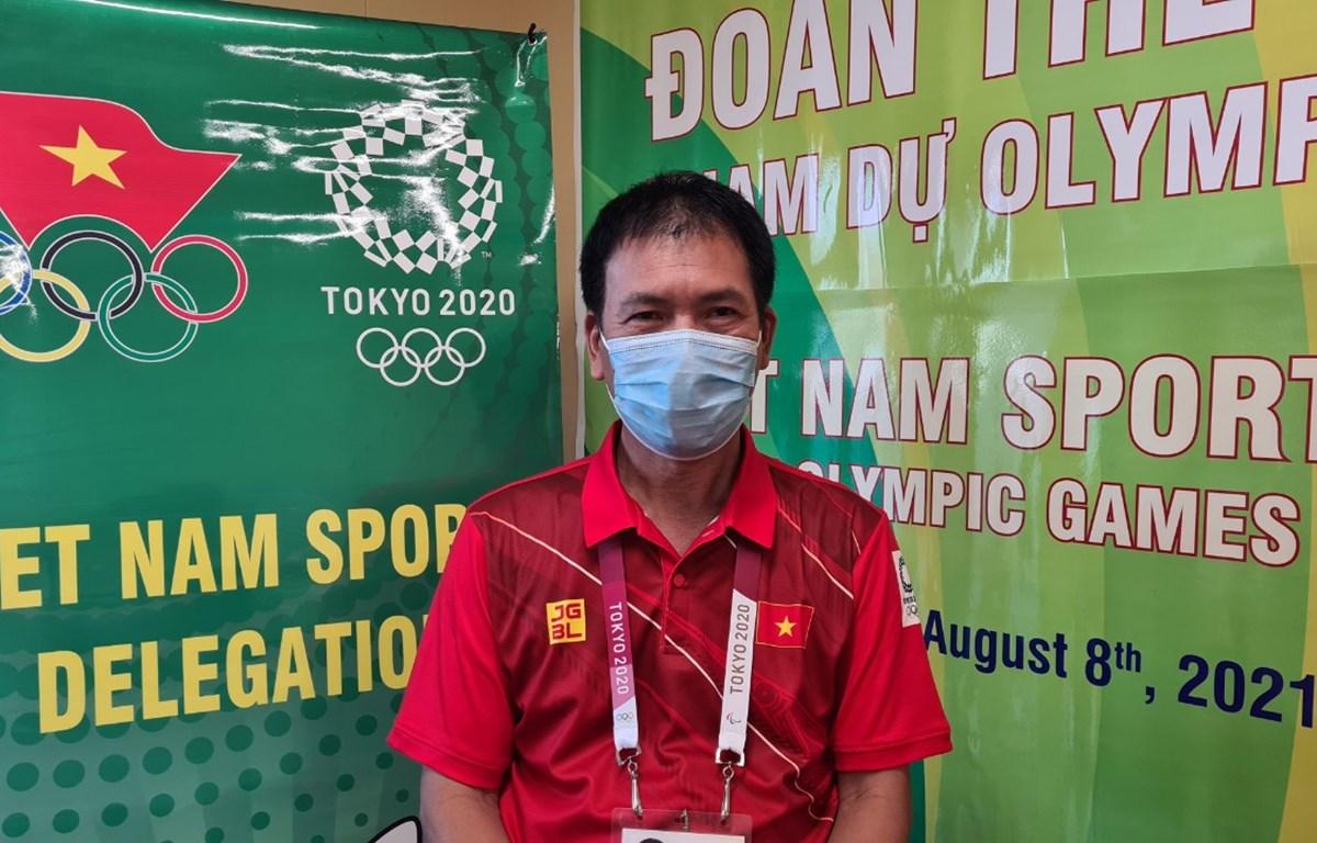 Trưởng Đoàn thể thao Việt Nam, ông Trần Đức Phấn (Ảnh: Thu Sâm/Đoàn thể thao Việt Nam)