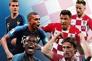 Link xem trực tiếp trận chung kết World Cup 2018 Pháp vs Croatia