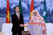 [Photo] Chủ tịch nước hội kiến Quyền Chủ tịch UB Liên minh châu Phi