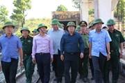 Phó Thủ tướng thị sát tình hình chống bão Mangkhut tại Quảng Ninh