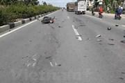 Điện Biên: Xe máy đâm vào ôtô người chiều, 4 người thương vong