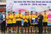 Đội bóng đá TTXVN giành á quân tại Hội khỏe Hội Nhà báo Hà Nội