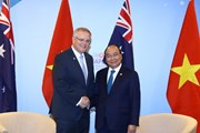 Thủ tướng Nguyễn Xuân Phúc tiếp Thủ tướng Australia Scott Morrison