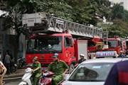 Hà Nội: Hỏa hoạn tại công trình nhà cao tầng ở Hoàng Quốc Việt