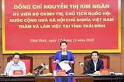 Chủ tịch Quốc hội Nguyễn Thị Kim Ngân làm việc tại Thái Bình