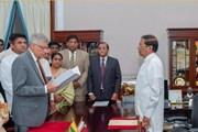 Sri Lanka: Ông Ranil Wickremesinghe tuyên thệ nhậm chức thủ tướng