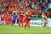 Cầu thủ Việt Nam ăn mừng tưng bừng sau trận thắng Jordan
