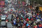 Cận Tết, nhiều tuyến đường của Thủ đô thường xuyên ùn tắc