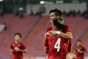 Cận cảnh tiền đạo Tiến Linh ghi bàn vào lưới U23 Triều Tiên