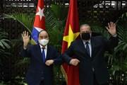 [Photo] Chủ tịch nước Nguyễn Xuân Phúc hội kiến Thủ tướng CH Cuba