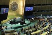 [Photo] Chủ tịch nước Nguyễn Xuân Phúc phát biểu tại Đại hội đồng LHQ