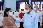 [Photo] Chủ tịch nước Nguyễn Xuân Phúc tiếp xúc cử tri huyện Củ Chi
