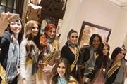 Các thí sinh Miss Grand International làm đẹp với khăn rằn Nam Bộ