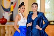 [Photo] Hoa hậu H'Hen Niê cùng Á hậu Hoàng Yến đọ dáng ở Hà Nội
