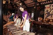 [Photo] Top 45 thí sinh Hoa hậu Hoàn vũ Việt Nam quảng bá văn hóa Việt