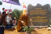 Rước cây bồ đề thiêng về trồng tại chùa Tam Chúc ở Hà Nam